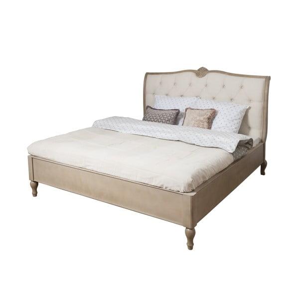 Béžová posteľ z brezového dreva Livin Hill Venezia, 180x200cm