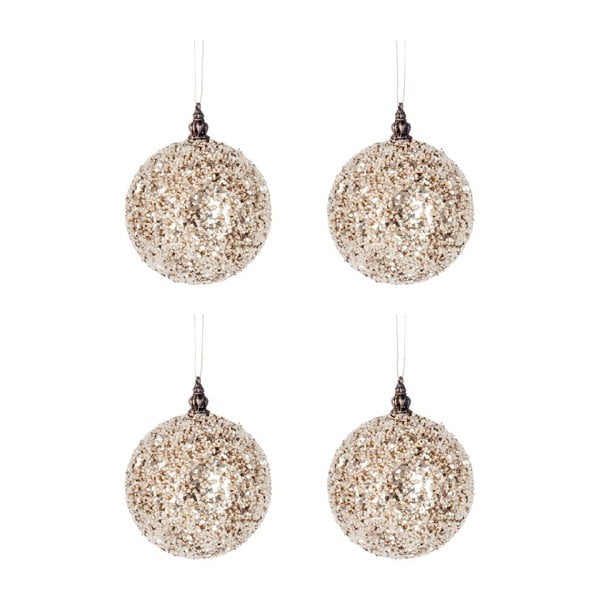 Set 4 dekorací Glitter Balls S