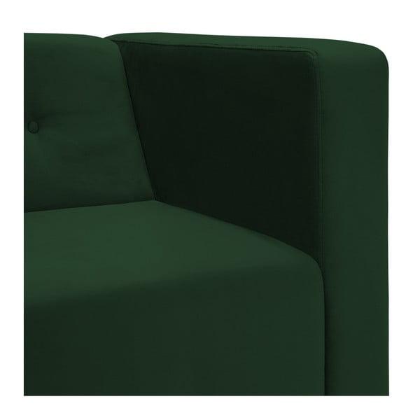Tmavě zelená trojmístná pohovka Vivonita Milo
