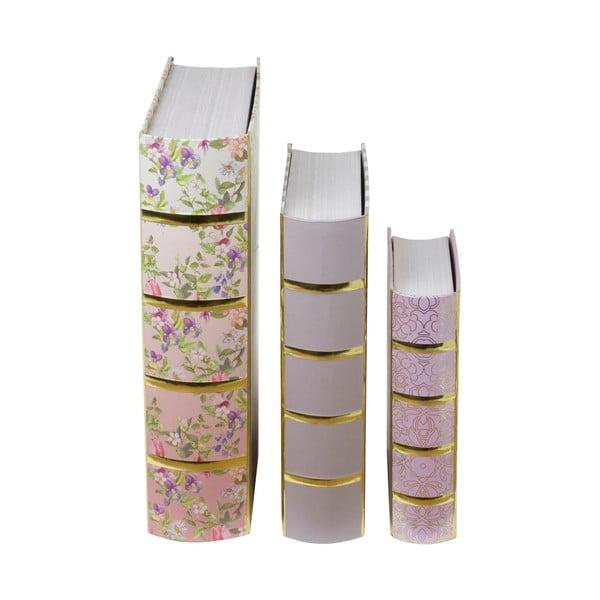 Sada 3 boxů ve tvaru knihy Tri-CoastalDesign Charming Garden
