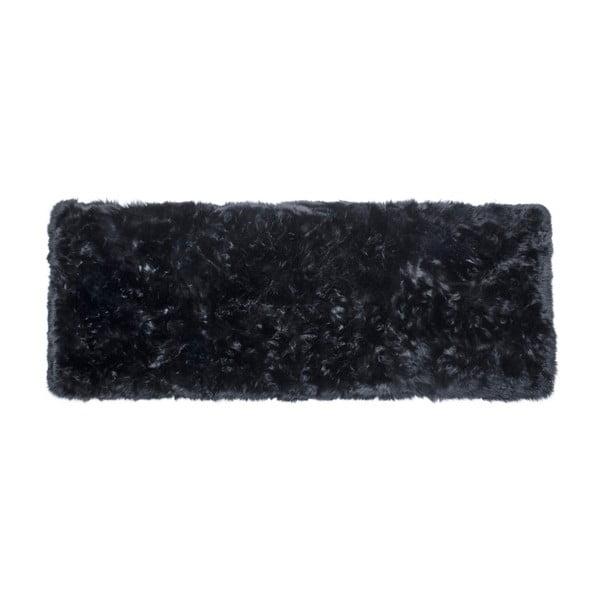 Zealand Long fekete bárányszőrme szőnyeg, 190 x 70 cm - Royal Dream