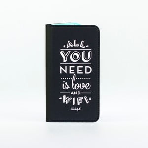 Černé pouzdro na iPhone 6 Mr. Wonderful Love