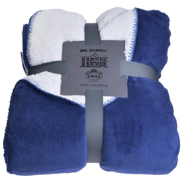 Pléd Blue and Cream, 150x200 cm