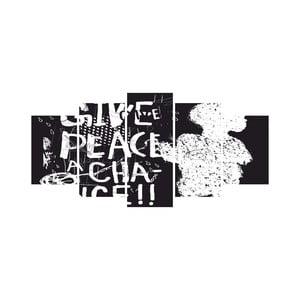 Vícedílný obraz Black&White no. 49, 100x50 cm