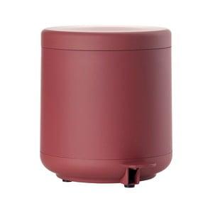 Červený koupelnový odpadkový koš s pedálem Zone UME, 4l