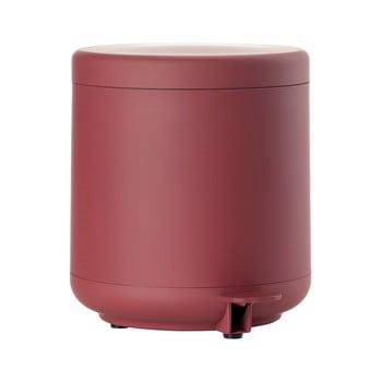Coș de gunoi cu pedală pentru baie Zone UME, 4 l, roșu de la Zone