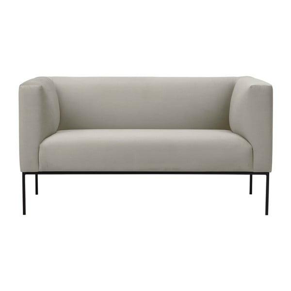 Beżowa aksamitna 2-osobowa sofa Windsor & Co Sofas Neptune