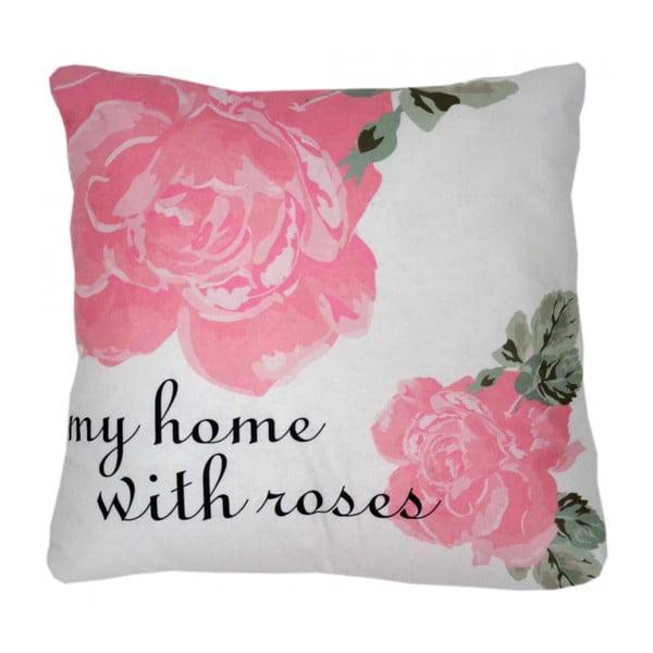 Polštář My home with roses, 42x42 cm