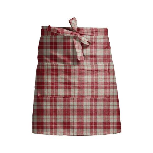 Șorț de bucătărie Linen Couture Delantal Red Square, roșu