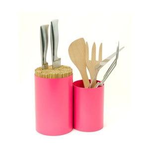 Blok na nože a kuchyňské náčiní Knife&Spoon Pink