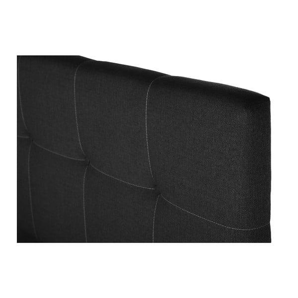 Tmavě šedá postel s matrací Stella Cadente Mars, 140x200 cm
