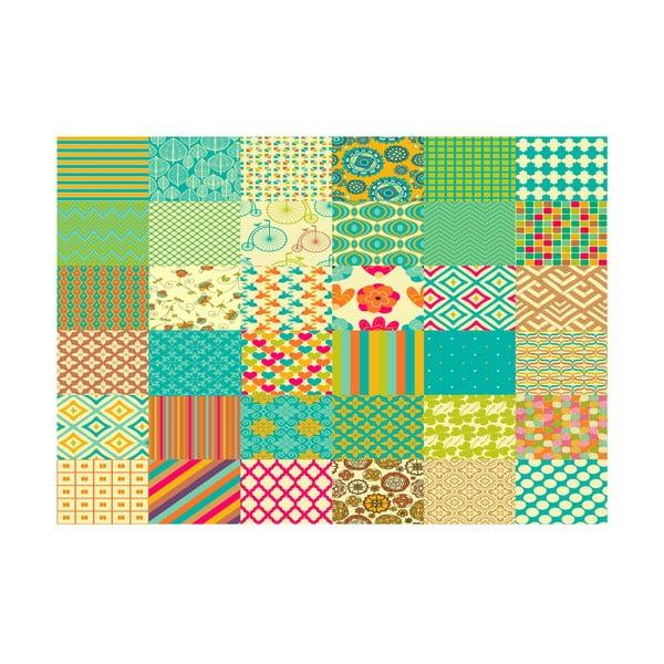 Koberec z vinylu Cuadros Texturas Retro, 60x120 cm