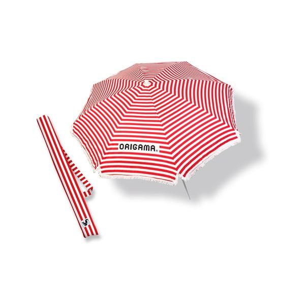Plážový slunečník Fun Brella Red Stripes