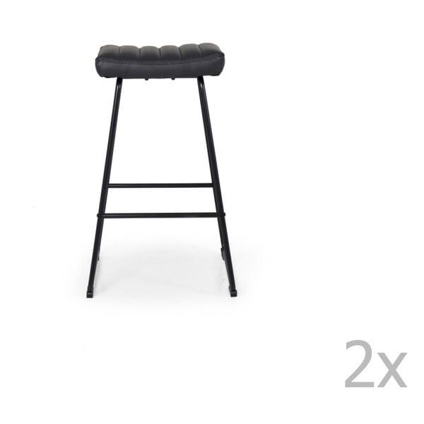 Set 2 scaune de bar Tenzo Theo, gri