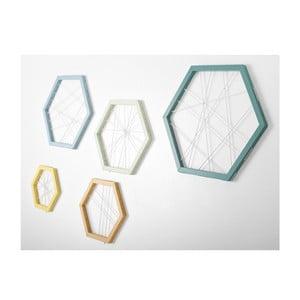 Rachetta Turquoise and Yellow, sada 5 ukládacích rámů