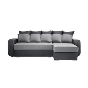 Antracitovo-šedá sedačka Interieur De Famille Paris Destin, pravý roh