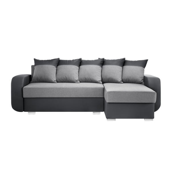 Canapea cu șezlong partea dreaptă Interieur De Famille Paris Destin, gri
