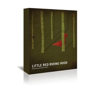 Obraz na plátně Red Riding Hood With Text od Christiana Jacksona