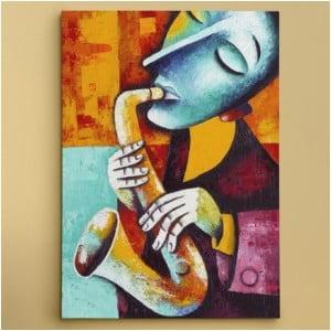 Obraz na plátně Saxofonista, 50x70 cm