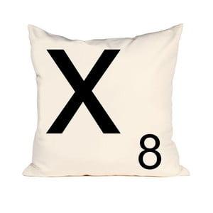 Písmenkový polštář Letra X, 50x50 cm