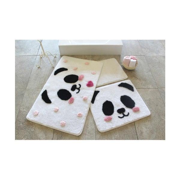 Sada 3 koupelnových předložek Panda