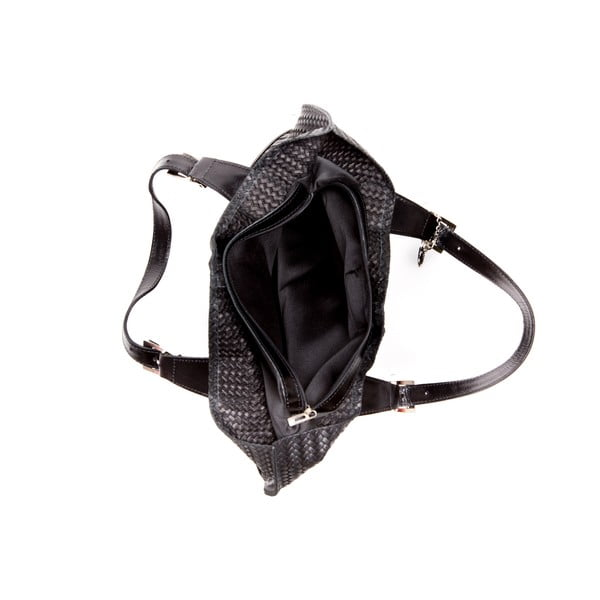 Kožená kabelka Roberta M. 848 Nero