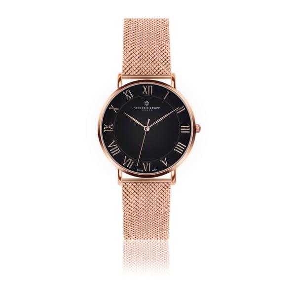 Unisex hodinky s remienkom z antikoro ocele v ružovozlatej farbe Frederic Graff Dom