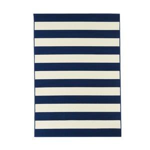 Modrý vysoce odolný koberec Webtappeti Stripes,133x190cm