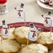 Set 20 scobitori decorative Neviti Let It Snow Snowman
