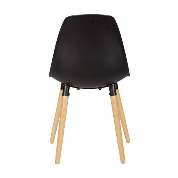Sada 2 černých židlí De Eekhoorn Roef