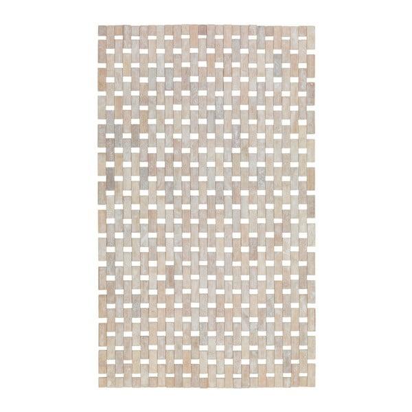 Krémově bílá koupelnová podložka z bambusu Wenko Edna, 80x50cm