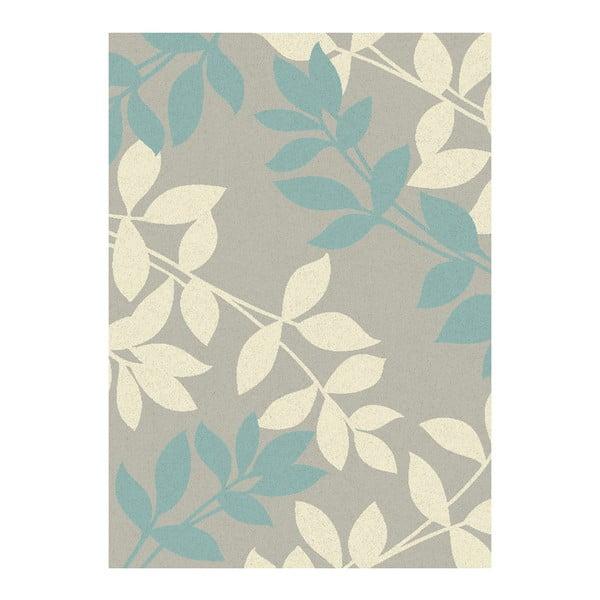 Koberec Asiatic Carpets Focus Blue Leaves, 120x170 cm