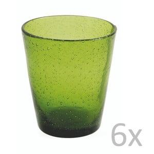Sada 6 zelených sklenic Villa d'Este Cancun Verdone