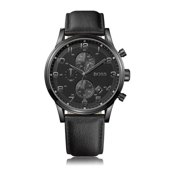 Pánské hodinky s koženým řemínkem Hugo Boss Aden