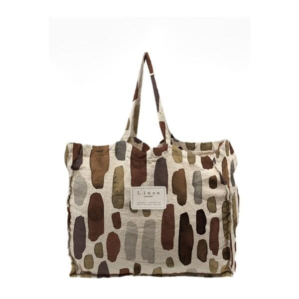 Látková taška Linen Couture Geometric, šírka 50 cm