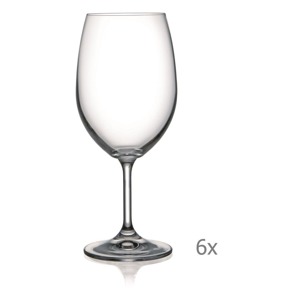 Sada 6 sklenic na víno Crystalex Lara, 540 ml