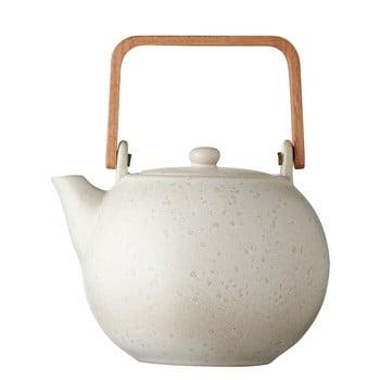 Ceainic din gresie ceramică Bitz Basics, 1,2 l, crem mat
