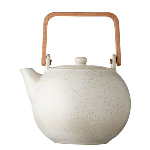 Basics Matte Cream krémszínű agyagkerámia teáskanna, 1,2 l - Bitz
