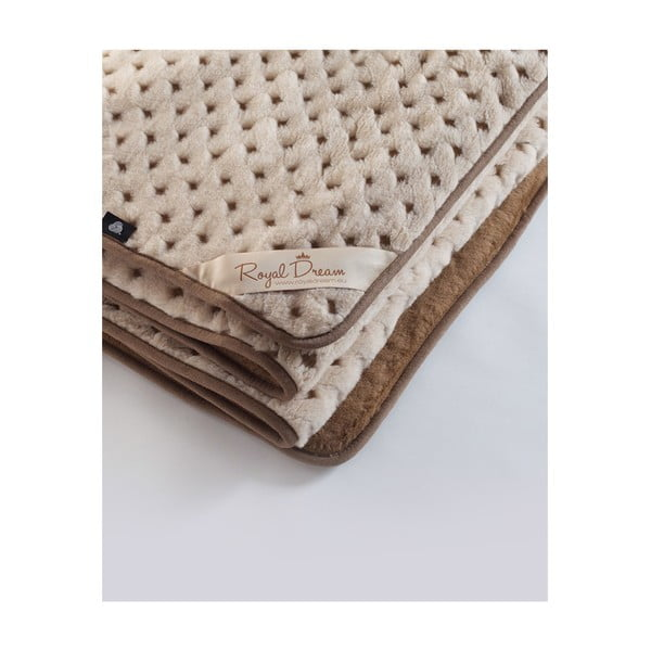 Vlněná deka Camel Dots, 140x200 cm