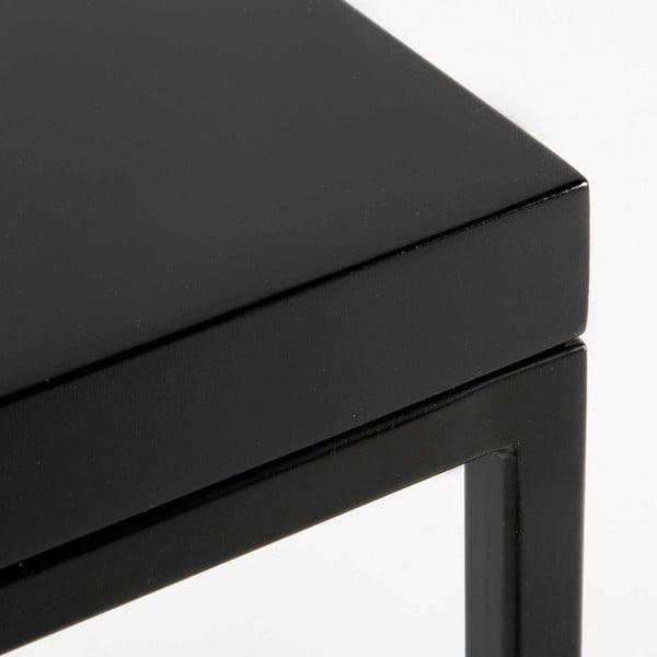 Odkládací stolek s černou deskou Thai Natura Nardino