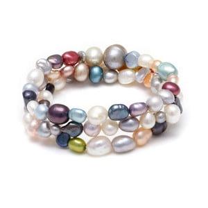 Náramek z říčních perel Freshwater, barevný