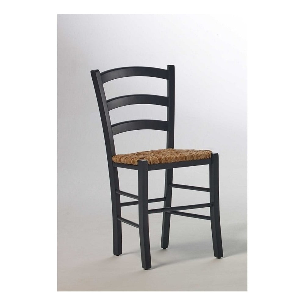 Černá židle z borovicového dřeva SOB Palerma