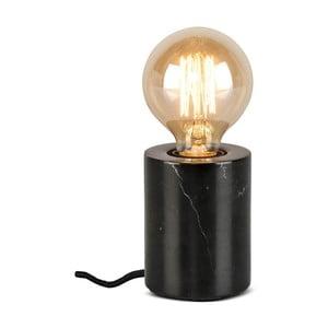 Černá stolní lampa s mramorovým podstavcem Citylights Athens