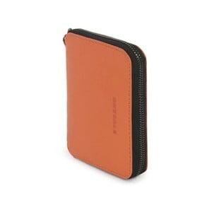 Oranžová peněženka z italské kůže Tucano Sicuro