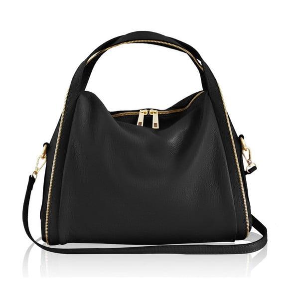 Kožená kabelka Kalisi, černá