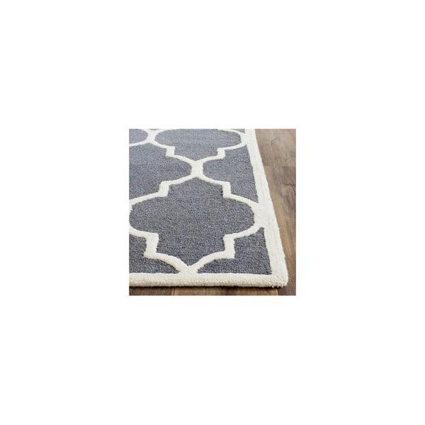 Vlněný koberec Everly 152x243 cm, šedý