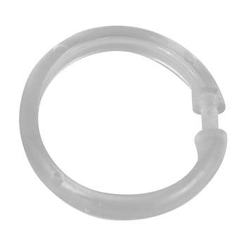 Set 12 inele transparente din plastic pentru perdea duș Wenko imagine