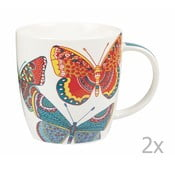 Sada 2 hrnků Churchill China Paradise Butterflies, 390 ml