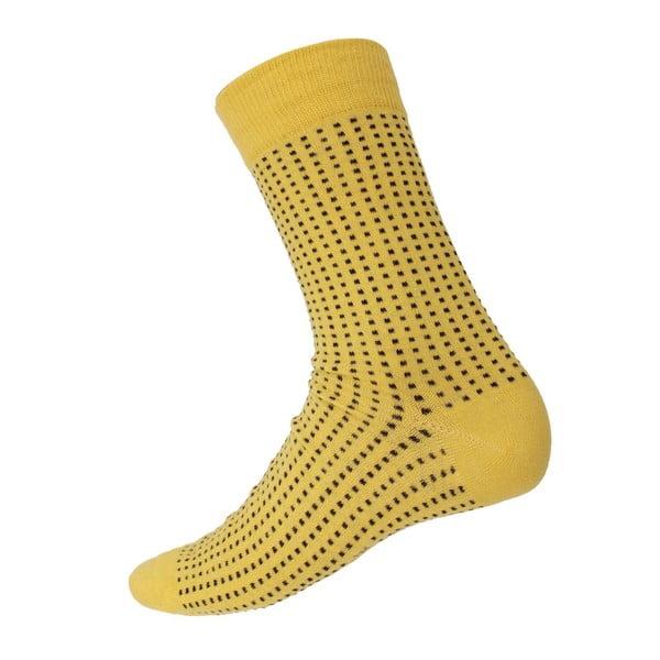 Ponožky Mini Dots Yellow, velikost 40-44