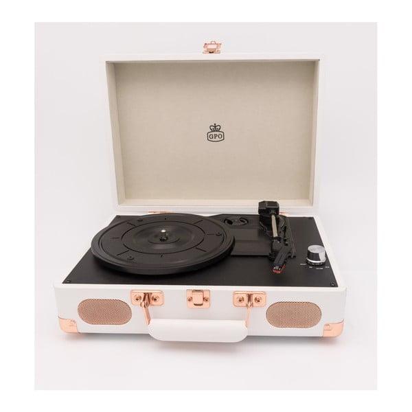 Biały gramofon GPO Soho White